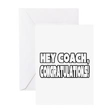 """Hey Coach, Congratulations!"" Greeting Card"