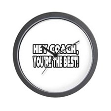 """""""Coach, You're the Best!"""" Wall Clock"""
