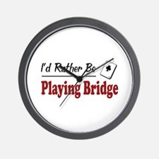Rather Be Playing Bridge Wall Clock