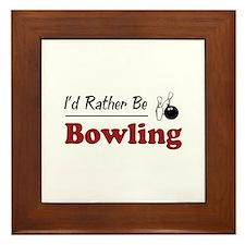 Rather Be Bowling Framed Tile