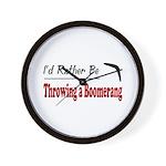 Rather Be Throwing a Boomerang Wall Clock