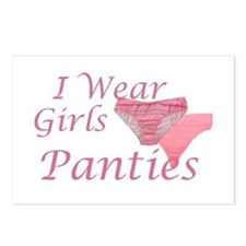 I wear Girls Panties Postcards (Package of 8)