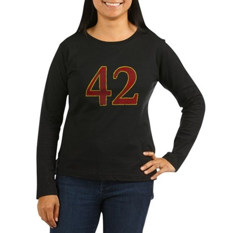 42 Women's Long Sleeve Dark T-Shirt