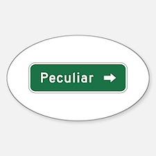 Peculiar, MO (USA) Oval Decal