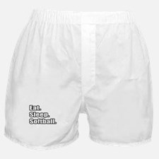 """Eat. Sleep. Softball."" Boxer Shorts"