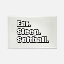 """Eat. Sleep. Softball."" Rectangle Magnet"