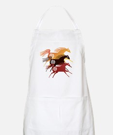 Three Ancient Horses BBQ Apron