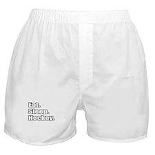 """""""Eat. Sleep. Hockey."""" Boxer Shorts"""