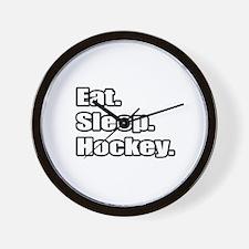 """""""Eat. Sleep. Hockey."""" Wall Clock"""