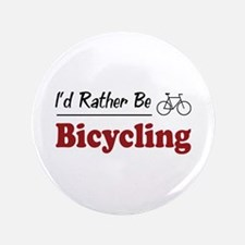 """Rather Be Bicycling 3.5"""" Button"""