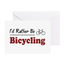 Rather Be Bicycling Greeting Card