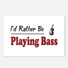 Rather Be Playing Bass Postcards (Package of 8)