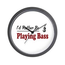 Rather Be Playing Bass Wall Clock