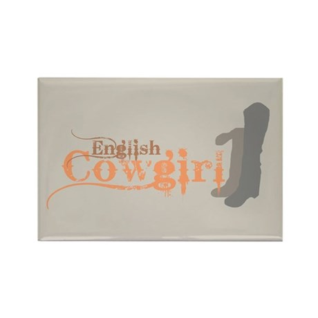 English Cowgirl Rectangle Magnet