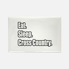 """Eat. Sleep. Cross Country."" Rectangle Magnet"
