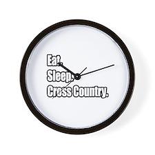 """Eat. Sleep. Cross Country."" Wall Clock"