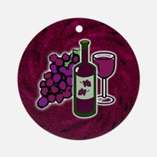 Wine Lovers Ornament (Round)