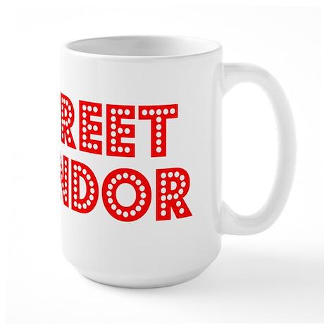 Retro Street vendor (Red) Large Mug