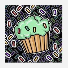 Three Cupcakes Tile Coaster