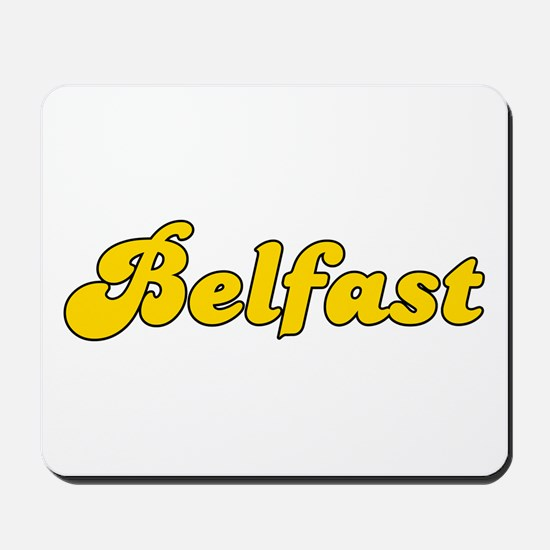 Retro Belfast (Gold) Mousepad