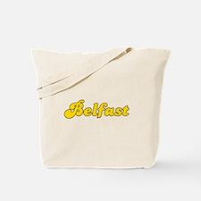 Retro Belfast (Gold) Tote Bag
