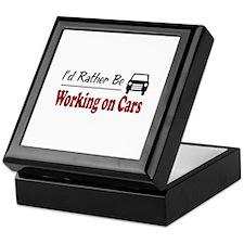 Rather Be Working on Cars Keepsake Box