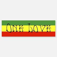 One Love Bumper Bumper Bumper Sticker