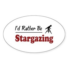 Rather Be Stargazing Oval Sticker (10 pk)