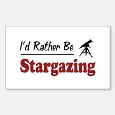 Rather Be Stargazing Rectangle Decal
