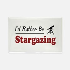 Rather Be Stargazing Rectangle Magnet