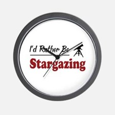 Rather Be Stargazing Wall Clock