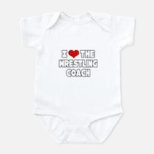 """I Love The Wrestling Coach"" Infant Bodysuit"