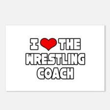 """I Love The Wrestling Coach"" Postcards (Package of"