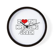 """I Love The Wrestling Coach"" Wall Clock"