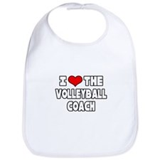 """I Love The Volleyball Coach"" Bib"