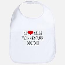 """I Love The Volleyball Coach"" Bib"