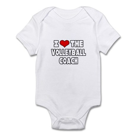 """I Love The Volleyball Coach"" Infant Bodysuit"