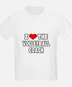 """I Love The Volleyball Coach"" T-Shirt"