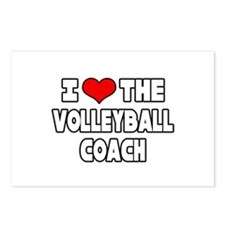 """I Love The Volleyball Coach"" Postcards (Package o"