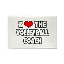 """""""I Love The Volleyball Coach"""" Rectangle Magnet"""