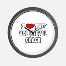 """I Love The Volleyball Coach"" Wall Clock"