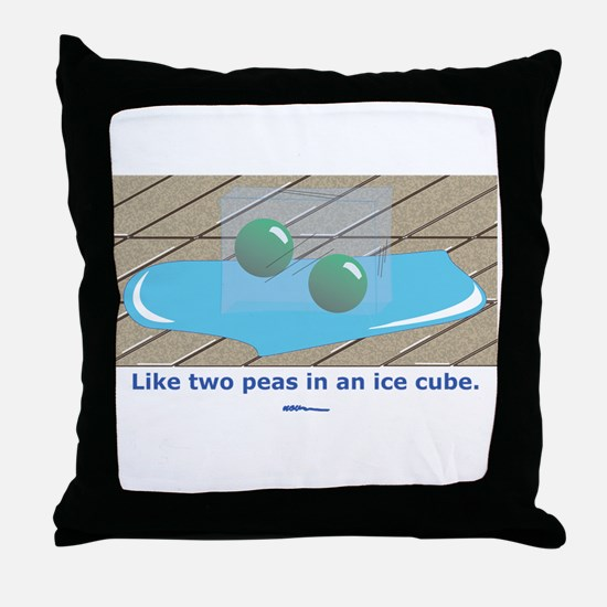 in an Ice Cube Throw Pillow