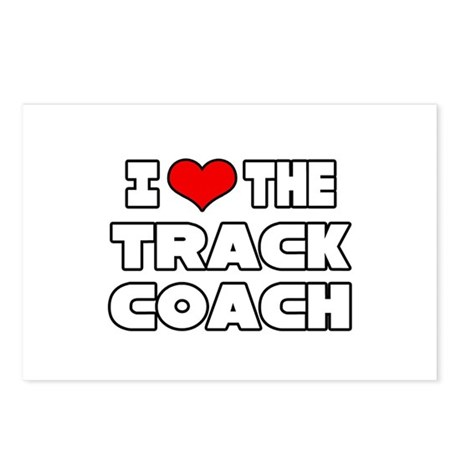 """""""I Love The Track Coach"""" Postcards (Package of 8)"""
