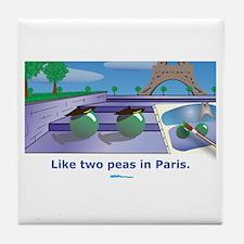 in Paris Tile Coaster