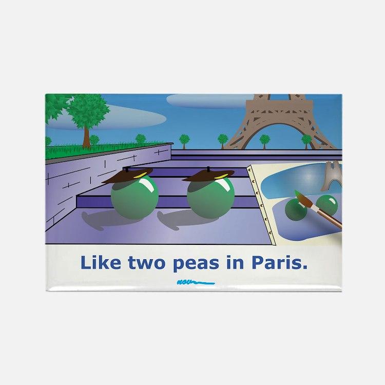 in Paris Rectangle Magnet