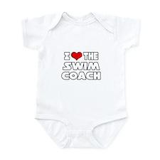 """I Love The Swim Coach"" Infant Bodysuit"