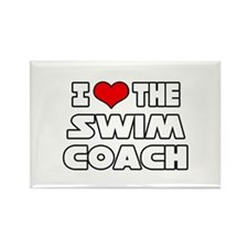 """I Love The Swim Coach"" Rectangle Magnet (10 pack)"