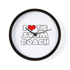 """I Love The Swim Coach"" Wall Clock"