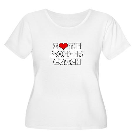 """I Love The Soccer Coach"" Women's Plus Size Scoop"