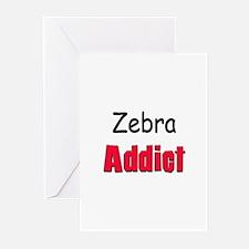 Zebra Addict Greeting Cards (Pk of 10)